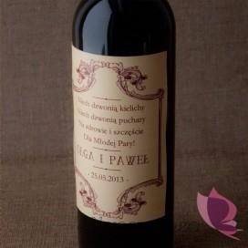 Zawieszki na alkohol Etykieta na alkohol - personalizacja kolekcja VINTAGE