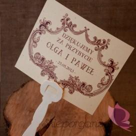 Wachlarze weselne personalizowane Wachlarz- personalizacja kolekcja VINTAGE