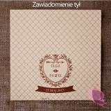 Zawiadomienie ślubne - personalizacja kolekcja VINTAGE