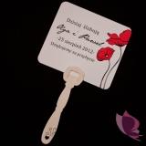 Wachlarze weselne personalizowane Wachlarz- personalizacja kolekcja MAKI