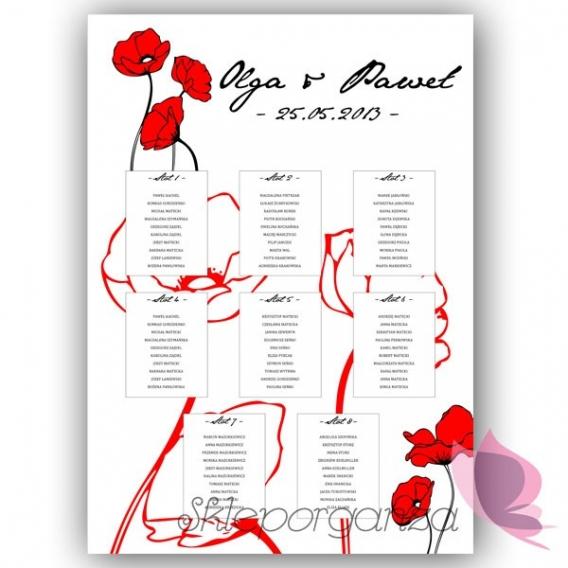 Plan stołów - personalizacja kolekcja MAKI