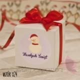 Upominki świąteczne Pudełko kostka 5cm, wstążka - personalizacja - ŚWIĘTA