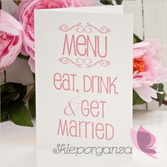 Menu weselne Menu weselne kolekcja LOVE