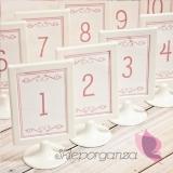 Numery stolików Numery stolików - personalizacja kolekcja LOVE