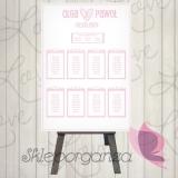 Plan stołów - personalizacja kolekcja LOVE