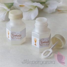 Bańka mydlana buteleczka - etykieta personalizacja KIELICH