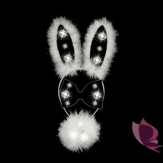 Przebrania Świecący zestaw króliczka biało - czarny
