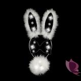 Świecący zestaw króliczka biało - czarny