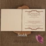 Zaproszenia ślubne Zaproszenie – personalizacja kolekcja - VINTAGE 2