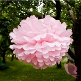 Piwonia Papierowy kwiat, jasnoróżowy, 50cm