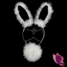 Zestaw króliczka biało - czarny