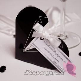 Pudełko serce - frak - personalizacja