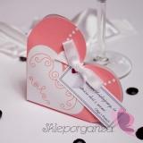 Pudełko serce - suknia - personalizacja