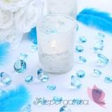 Kryształki Diamentowe konfetti turkusowe 100 sztuk