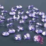 Diamentowe konfetti liliowe 100 sztuk
