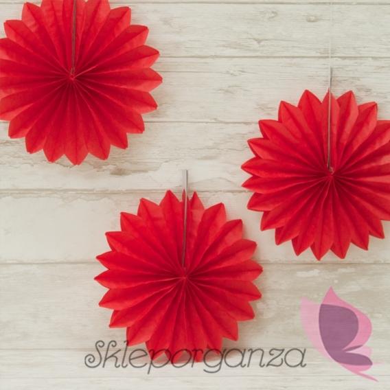 Rozety gładkie Rozetka czerwona 20cm