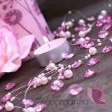 Kryształki Diamentowe konfetti różowe 100 sztuk