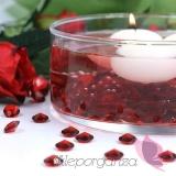 Kryształki Diamentowe konfetti czerwone 100 sztuk