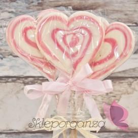 Lizak serce różowe