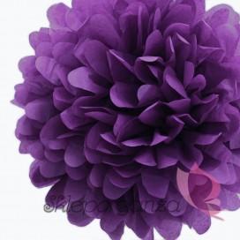 Papierowy kwiat, ciemnofioletowy, 35cm
