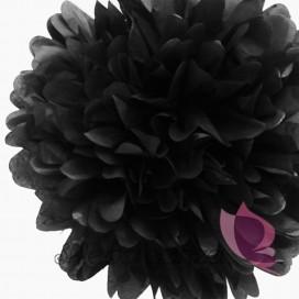 Papierowy kwiat, czarny, 35cm