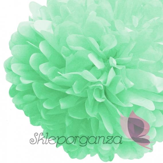 Papierowe kule kwiatowe pompony na wesele Papierowy kwiat, miętowy, 35cm