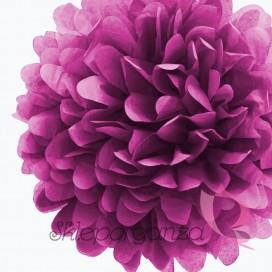 Papierowe kule kwiatowe pompony Papierowy kwiat, radiant orchid, 35cm