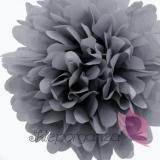 Papierowy kwiat, ciemnoszary, 35cm