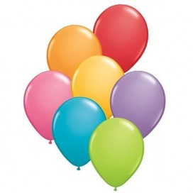 Balony PASTELOWE mix kolorów 25 cm, 100 sztuk