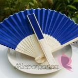 Wachlarze weselne Wachlarz materiałowy ciemnoniebieski