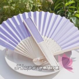 Wachlarz papierowy jasnofioletowy