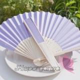 Wachlarze weselne Wachlarz papierowy jasnofioletowy