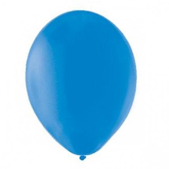 Paleta - niebieski, fuksja Balony PASTELOWE niebieskie 25 cm, 100 sztuk