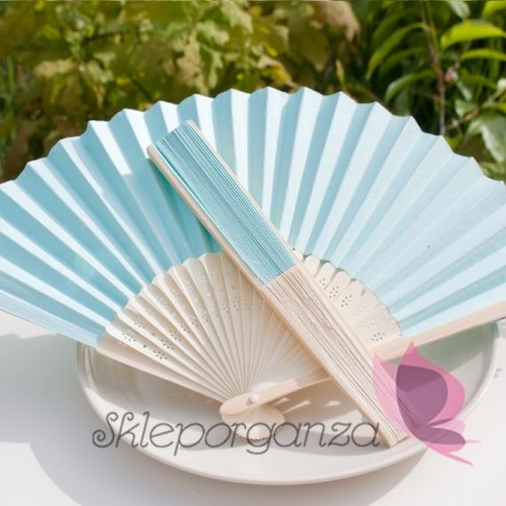 Wachlarze weselne Wachlarz papierowy jasnoniebieski