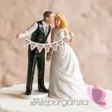 Porcelanowa figurka na tort - Zakochani