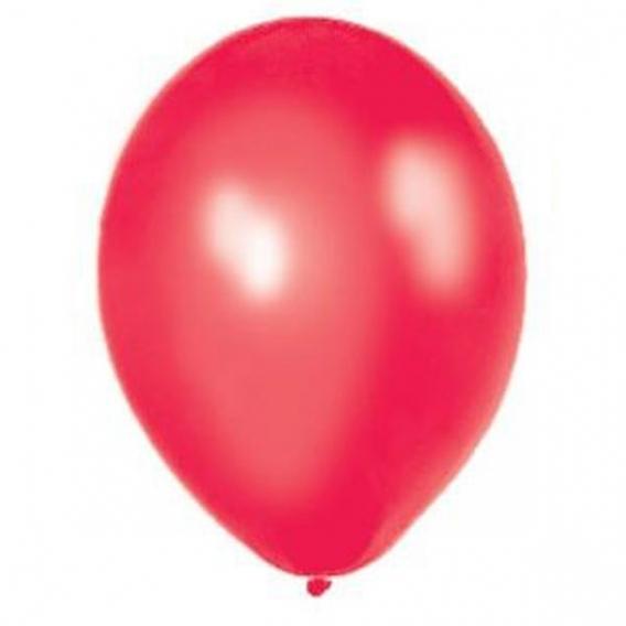 Balony metaliczne Balony METALICZNE czerwone 30 cm, 100 sztuk