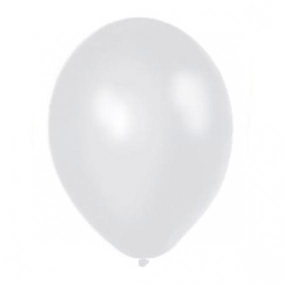 Balony metaliczne Balony METALICZNE białe 30 cm, 100 sztuk