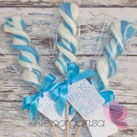 Lizak duży świderek niebieski - personalizacja - kolekcja LOVE