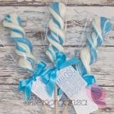 Lizak świderek niebieski - personalizacja - kolekcja LOVE