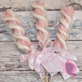 Lizaki Lizak duży świderek różowy - personalizacja - kolekcja LOVE
