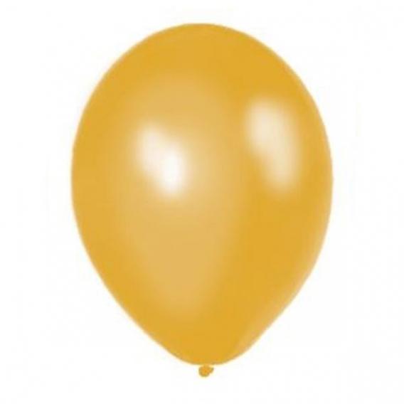 Balony metaliczne na wesele Balony METALICZNE złote 30 cm, 100 sztuk