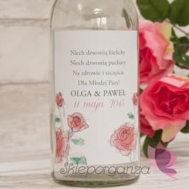 VINTAGE ROSE Etykieta na alkohol - personalizacja kolekcja VINTAGE ROSE