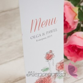 Karta menu kolekcja VINTAGE ROSE