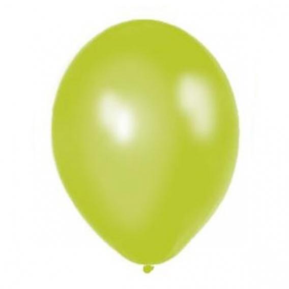 Balony metaliczne Balony METALICZNE jasnozielone 30 cm, 100 sztuk