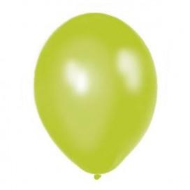 Balony METALICZNE jasnozielone 30 cm, 100 sztuk