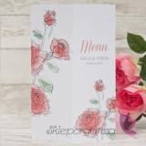 VINTAGE ROSE Karta menu kolekcja VINTAGE ROSE