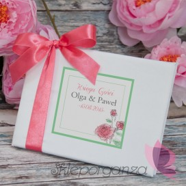 Księga gości - personalizacja kolekcja VINTAGE ROSE