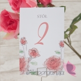 Numery stolików – personalizacja kolekcja VINTAGE ROSE