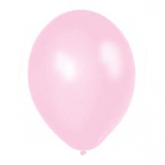 Balony METALICZNE jasnoróżowe 30 cm, 100 sztuk