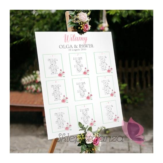 VINTAGE ROSE Plan stołów – personalizacja kolekcja VINTAGE ROSE